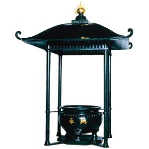 屋根付外置香炉(屋根真鍮)
