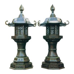 八角型燈籠(火袋八角型)